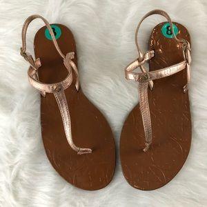 NWOT Kate Spade Citrine Rose Gold Metallic Sandal
